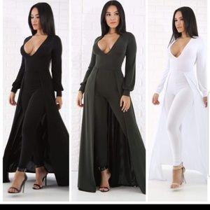 Pants - Black Maxi Jumpsuit